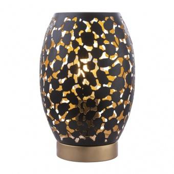 метална настолна лампа, black, globo, hanny, 1x40w, 24003s