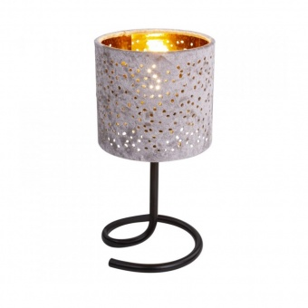 текстилна настолна лампа, beige, globo, norro, 1x40w, 24001bg