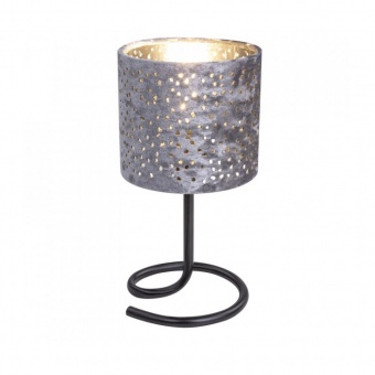 текстилна настолна лампа, silver, globo, norro, 1x40w, 24001sc
