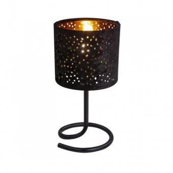 текстилна настолна лампа, black, globo, norro, 1x40w, 24001sg