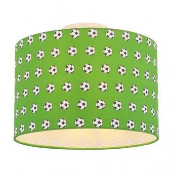 текстилен плафон, green, globo, lemmi, 1x60w, 54009d