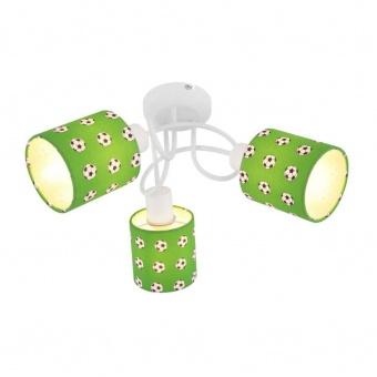 текстилен спот, green, globo, lemmi, 3x40w, 54009-3