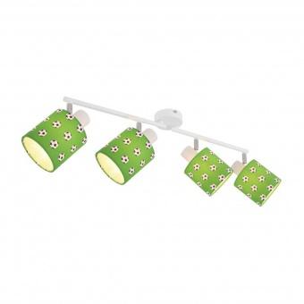 текстилен спот, green, globo, lemmi, 4x40w, 54009-4