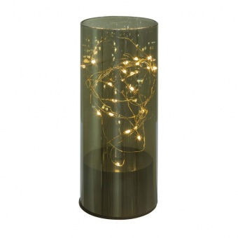 стъклена настолна лампа, smokey, globo, ronno, led 20x0.03w, 3000k, 28163