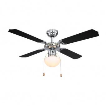 таванен вентилатор, chrome, globo, champion, 1x60w, 3 степени на работа, 0309csw
