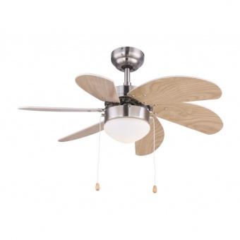 таванен вентилатор, nickel matt, globo, rivaldo, 1x60w, 3 степени на работа, 03301