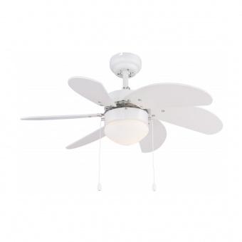 таванен вентилатор, white, globo, rivaldo, 1x60w, 3 степени на работа, 03302