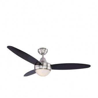таванен вентилатор, black, globo, cordula, 2x40w, 3 степени на работа, 03611