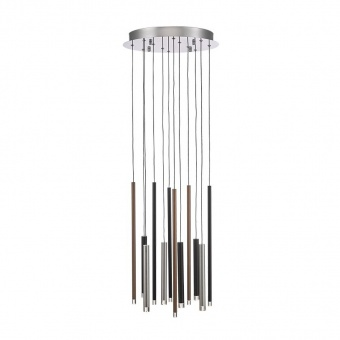 метален полилей, chrome/silver/copper/coffee, luxera, la vela, led 24w, 3000k, 900lm, 64404