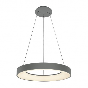 метален пендел, matt grey/white, luxera, gentis, led 40w, 4000k, 2400lm, 18404