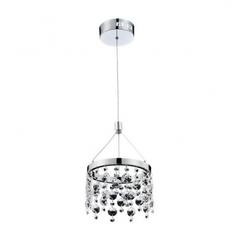 кристален пендел, chrome/crystal, luxera, eratto, led 11w, 4000k, 878lm, 64393