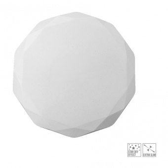 led плафон, white, prezent, iridio, led 24w, 4000k, 2640lm, 71318