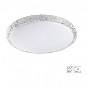 led кристален плафон, white/clear, prezent, ambia, led 36w, 4000k, 4000lm, 71312