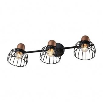 метален спот, black/red copper, prezent, basket, 3x40w, 75464