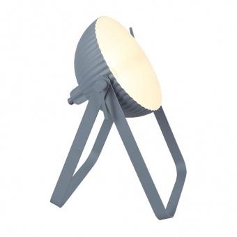 метална настолна лампа, grey/white, prezent, orfeus, 1x40w, 75553