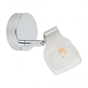 метален спот, chrome/white, prezent, quado, 1x4w, 62600