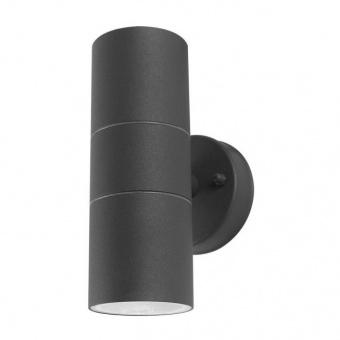 метално градинско тяло, dark grey/white, prezent, nuru, 2x40w, 31506