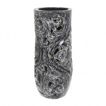 лампион от дърво, черен, elbulgaria, 1x25w, eli 70/50 bk