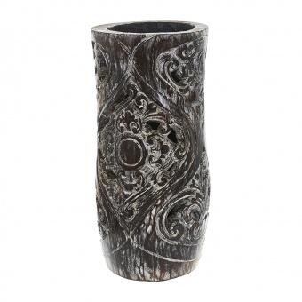 лампион от дърво, кафяв, elbulgaria, 1x25w, eli 70/50 br