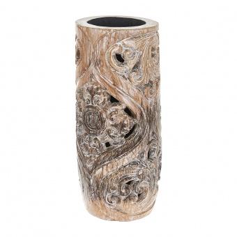 лампион от дърво, бял, elbulgaria, 1x25w, eli 70/50 wh