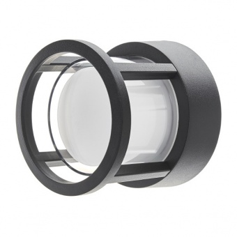 метален градински аплик, черен, elbulgaria, led 6w, 4000k, 2113 bk/6w