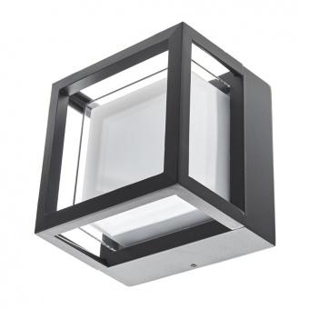 метален градински аплик, черен, elbulgaria, led 10w, 4000k, 2114 bk/10w