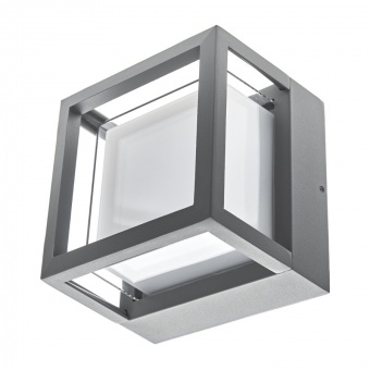 метален градински аплик, сив, elbulgaria, led 10w, 4000k, 2114 gy/10w
