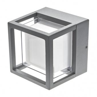 метален градински аплик, сив, elbulgaria, led 6w, 4000k, 2115 gy/6w