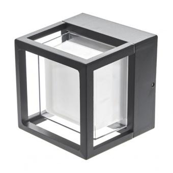 метален градински аплик, черен, elbulgaria, led 6w, 4000k, 2115 bk/6w