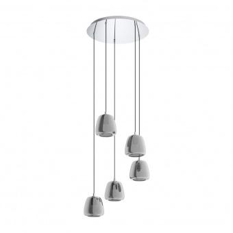 стъклен полилей, black transparent, eglo, albarino, 3x40w, 39667