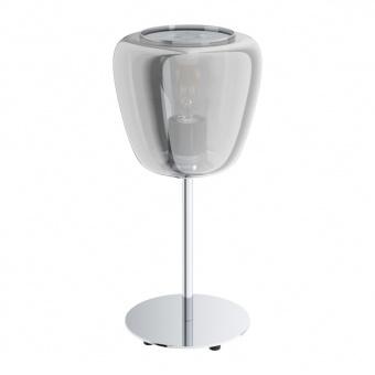 стъклена настолна лампа, black transparent, eglo, albarino, 1x40w, 39669