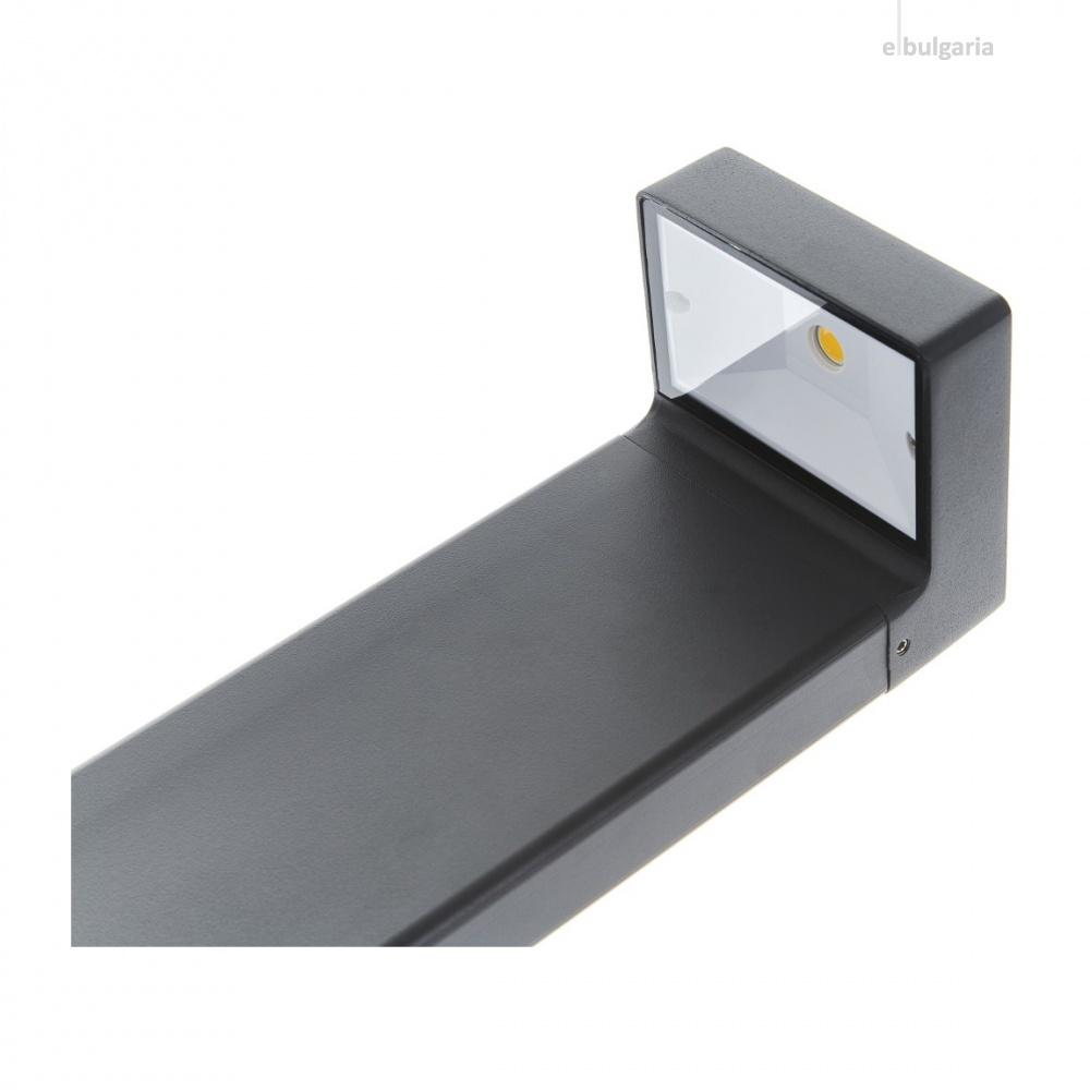 метално градинско тяло, черен, elbulgaria, led 5w, 4000k, 2125 bk/5w