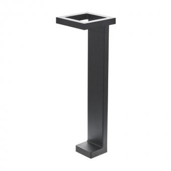 метално градинско тяло, черен, elbulgaria, led 6w, 4000k, 2126 bk/6w
