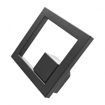 метален градински аплик, черен, elbulgaria, led 10w, 4000k, 2128 bk/10w
