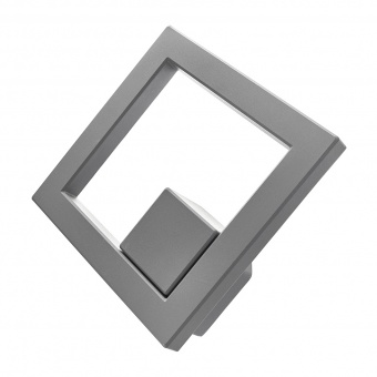 метален градински аплик, сив, elbulgaria, led 10w, 4000k, 2128 gy/10w