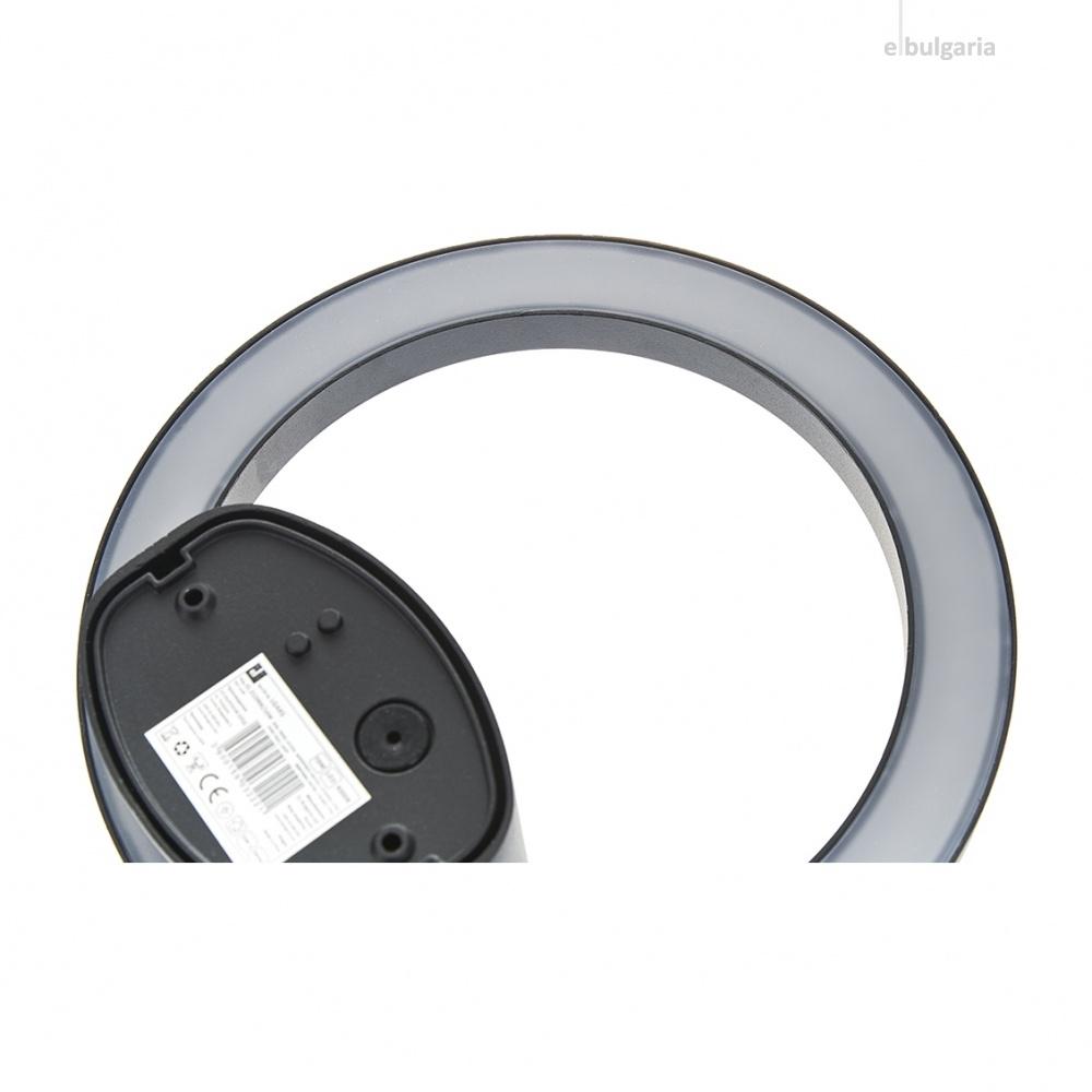 метален градински аплик, черен, elbulgaria, led 10w, 4000k, 2129 bk/10w