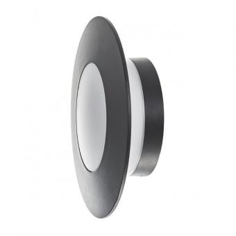 метален градински аплик, черен, elbulgaria, led 10w, 4000k, 2130 bk/10w