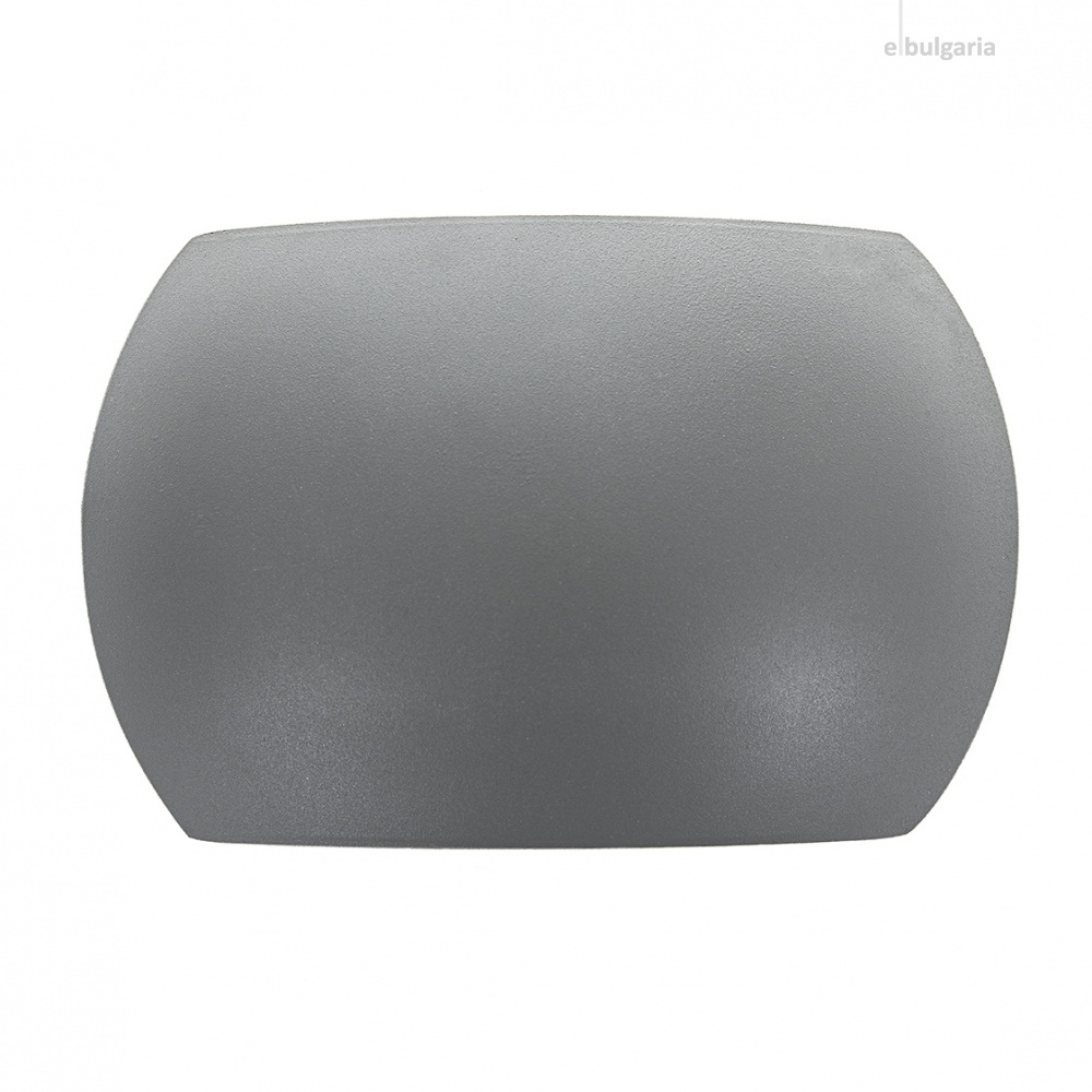 метален градински аплик, сив, elbulgaria, led 6w, 4000k, 2131 gy/6w