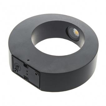 метален градински аплик, черен, elbulgaria, led 8w, 4000k, 2134 bk/8w