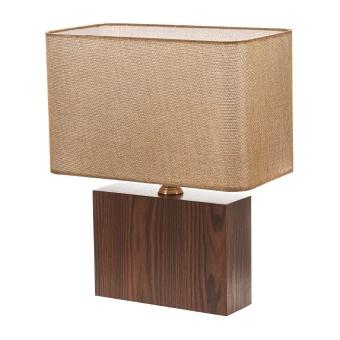 текстилна настолна лампа, кафяв, elbulgaria, 1x40w, 2065/b m014