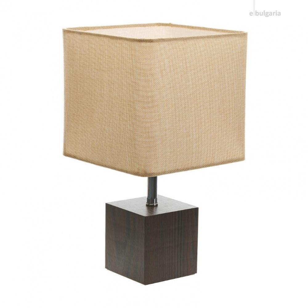 текстилна настолна лампа, крем, elbulgaria, 1x40w, 2065/s d331