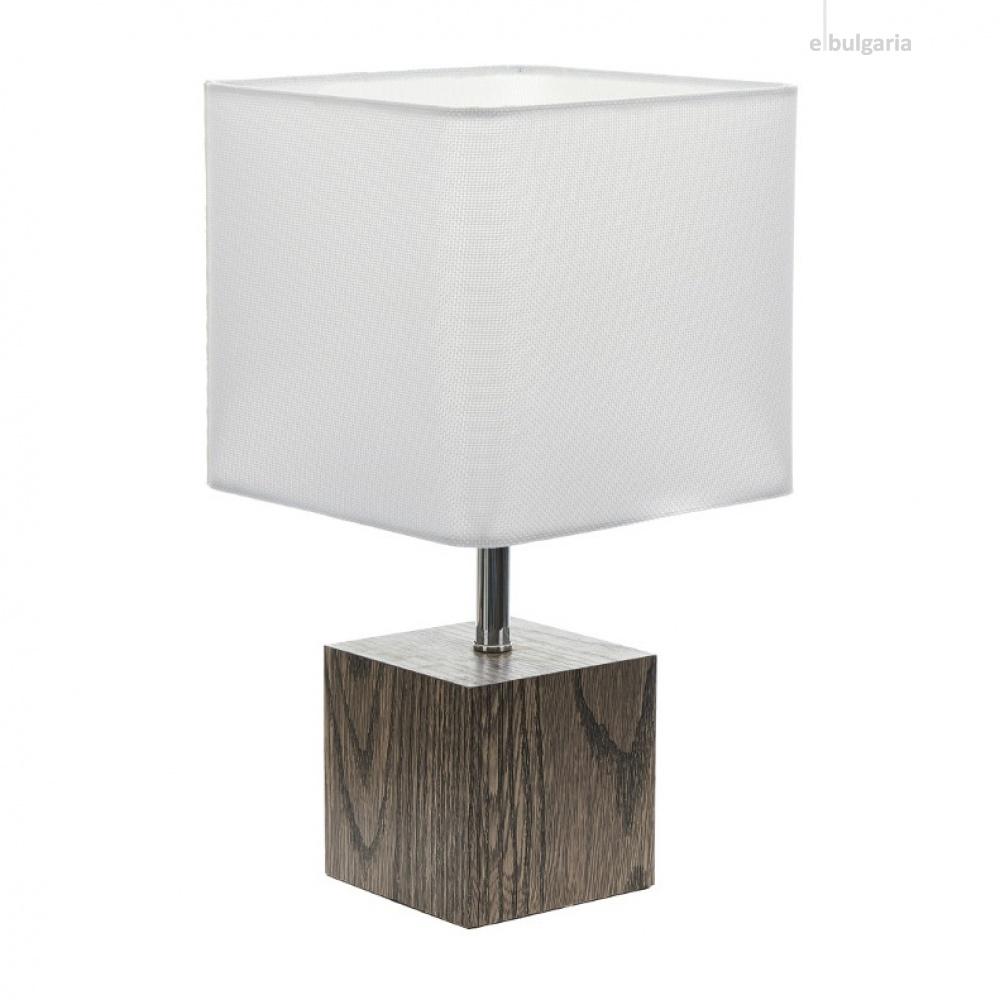 текстилна настолна лампа, бял, elbulgaria, 1x40w, 2065/s d337