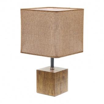 текстилна настолна лампа, крем, elbulgaria, 1x40w, 2065/s m001
