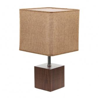 текстилна настолна лампа, кафяв, elbulgaria, 1x40w, 2065/s m014