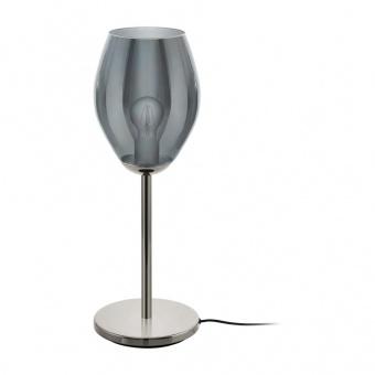 стъклена настолна лампа, black transparent, eglo, estanys, 1x60w, 39568