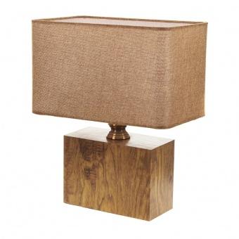текстилна настолна лампа, крем, elbulgaria, 1x40w, 2065/m m001