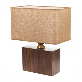 текстилна настолна лампа, кафяв, elbulgaria, 1x40w, 2065/m m014