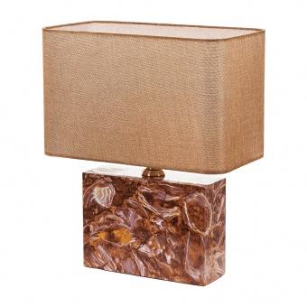 текстилна настолна лампа, кафяв, elbulgaria, 1x40w, 2068/b m001