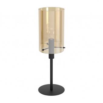 стъклена настолна лампа, amber, eglo, polverara, 1x40w, 39541