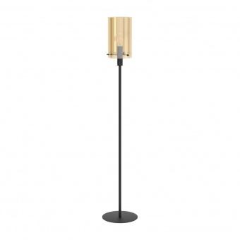 стъклен лампион, amber, eglo, polverara, 1x40w, 39542